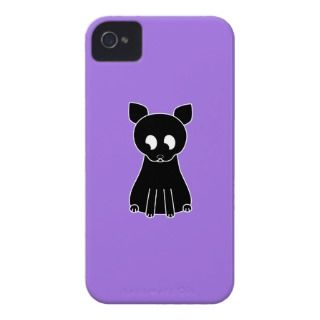Cute Black Cat. iPhone 4 Case
