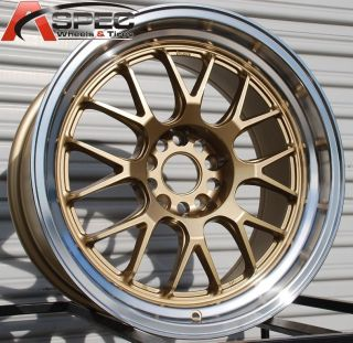 MXR R 5x114 3 38 Royal Gold Wheel Fits TSX Accord Eclipse IS250