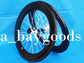 2013   Full Carbon Road Bike Bicycle Clincher wheelset 88mm Rim Hub