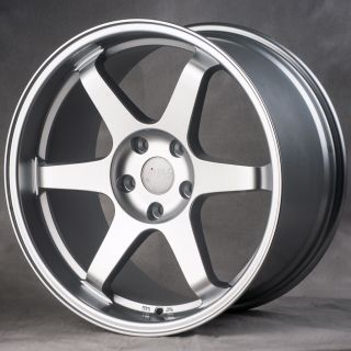 Silver Staggered Style Wheels Rims Fit Infiniti G35 G37 Coupe