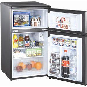 Emerson 2 Door Compact Refrigerator Mini Fridge Freezer