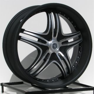 20 inch Black Rims Wheels Jeep Grand Cherokee Wrangler JK Ford Mustang