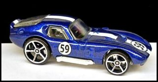 2007 Hot Wheels 006 Shelby Cobra Daytona Coupe Blue