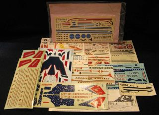Lot of Aircraft Model Decals Military Civil Airplanes