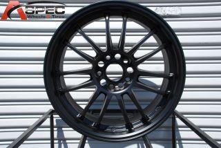 Rota SVN 5x114 3 48 Flat Black Wheel Fits RSX TSX STI Prelude
