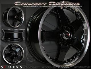 17 Evoke™ F1 Wheels Rims Universal 10H 5 Lug Black New