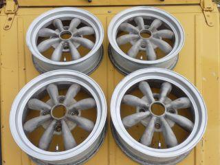 VW Empi 8 Spoke Wheels 15 Set of 4 Volkswagen Super Beetle Karmann