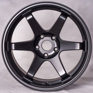 Miro398 Matte Black staggered style wheels rims Fit Nissan 350z 370z