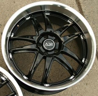 Adr Decadence 20 Glossy Black Rims Wheels Lexus LS430 Staggered