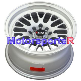 15 7 XXR 513 Chromium Black Rims Wheels Deep Dish 85 87 Toyota Corolla