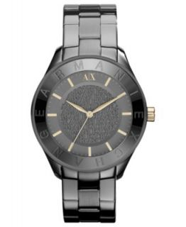 Armani Exchange Watch, Womens Gray Ion Plated Stainless Steel