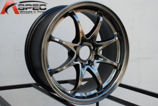 16X7 ROTA FIGHTER 8 4X100/114.3 +40 HYPER BLACK WHEEL FITS CIVIC