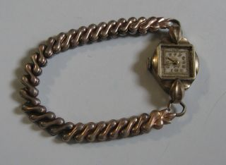 Vintage Milos Womens Wristwatch Swiss La Petite Band 10K RGP Gold