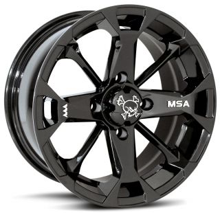 MSA M17 Elixir Black 14 ATV Wheels on Moto MTC 26 Tires for Can Am