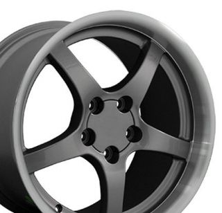 One Rim 18 Gunmetal Wheels Rims Fit 1995 1996 Camaro SS