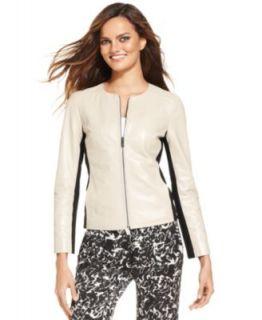 Lauren Jeans Co. Jacket, Leather Moto   Womens Jackets & Blazers