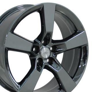 20 Camaro SS Wheels PVD Black Chrome Set of 4 Rims