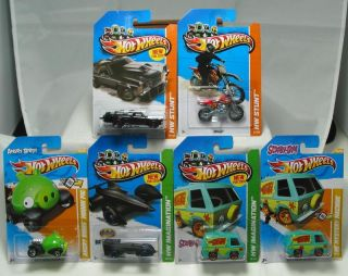 HOT WHEELS 2012 13 MYSTERY MACHINE, HW450F, GREEN PIG, EL CAMINO