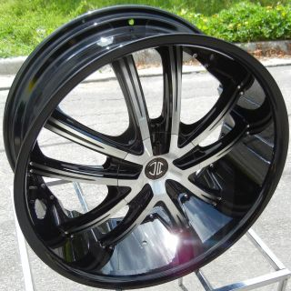 22x9 5 2 Crave No 21 Wheels Rims Black and Machined 6x5 5 Chevy Tahoe