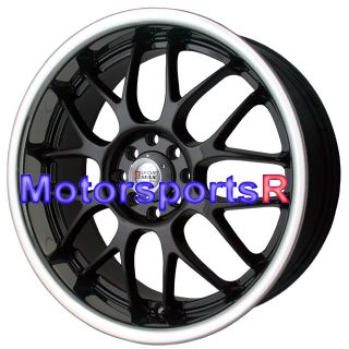 Polished Lip Staggered Wheels Rims 4 Lugs 98 Nissan 240sx S14