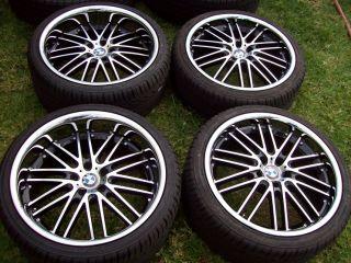 20 Machined Black BMW Wheels 6 7 Series 645 650 M6 740 745 750 E38