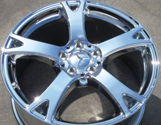 YOUR STOCK 2012 19 FACTORY MERCEDES S350 S550 OEM CHROME WHEELS RIMS