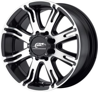 20x9 Black Dale Jr DJ708 Wheels Rims Jeep Wrangler JK