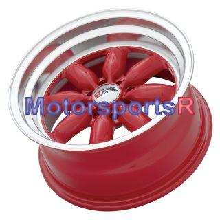 15 8 XXR Red 513 Wheel Rims Toyota AE86 Scion XA XB JDM