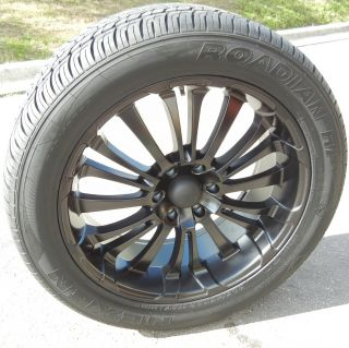 22 HD BLACKOUT WHEELS RIMS & NEXEN HP TIRES CHEVY TAHOE ESCALADE