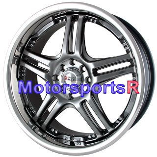 17 XXR 502 Chromium Black Wheels Rims 89 90 94 Nissan 240sx 98 01