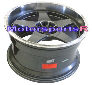 17 XXR 962 Gun Metal Rims Staggered Wheels Deep Dish Lip 89 94 Nissan