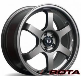 Rota Grid 17x8 5x114 3 ET35 73 1 Gun Metal Rim Wheels