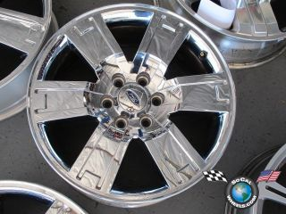 One 07 10 Ford Expedition Factory 20 Chrome Clad Wheel Rim 3659 9L14