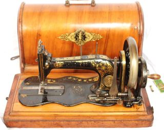 Singer Model 12 Fiddlebase Hand Crank Sewing Machine Wheels