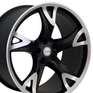 Nissan Matte Black 370Z Wheels 20x10 20x8 5 nismo Set of 4 Rims