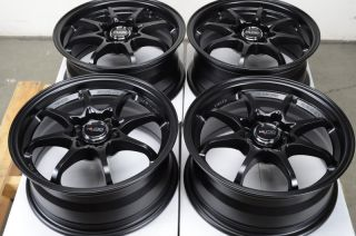 15 4x114 3 4x100 Black Rims Light Weight Scion XA XB Lancer Jetta