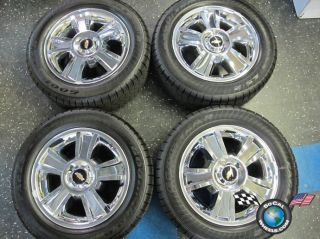 09 12 Chevy Silverado Factory 20 Wheels Tires Chrome Clad Tahoe 1500
