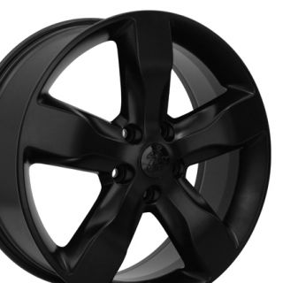 20 Jeep Grand Cherokee Matte Black Overland Wheels Set of 4 9107 Rims