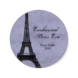 Enchaned Paris Eve Eiffel ower Prom Sickers