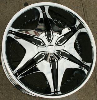 Akuza Big Papi 712 22 Chrome Rims Wheels Infiniti QX4 97 03