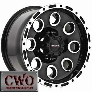 16 Black Ballistic Bullet Wheels Rim 5x139 7 5 Lug Dodge RAM Dakota