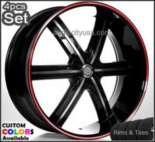 24 Wheels Tires Rims Wheel Chevy Escalade Nissan Siverado