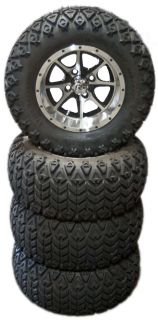 4X 23 All Terrain Golf Cart Tires 10 Aluminum Wheels
