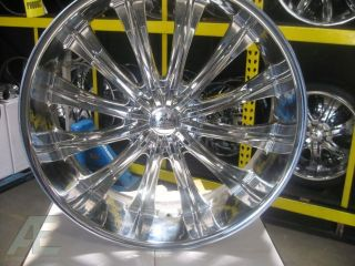 28 Chrome Wheels Rims w Lip Escalade Tahoe Avalanche