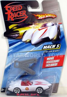 Hot Wheels Speed Racer 1 64 Mach 5 with Saw Blades with Movie