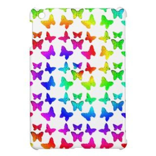 Bright Rainbow Swirl Butterflies Case For The iPad Mini