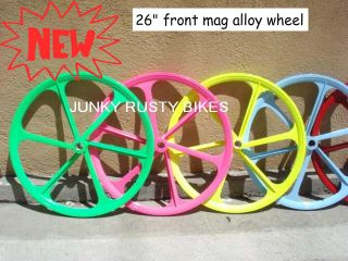 26 Mag Front Fixed Gear Fixie Trick Wheel Alloy Bike Bicycle Rim