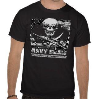 Navy SEALs Jolly Roger Dark T Shirts
