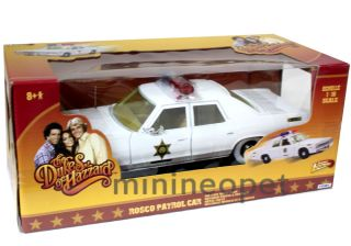 HAZZARD GENERAL LEE DODGE MONACO 1/18 ROSCO PATROL POLICE WHITE WHEELS
