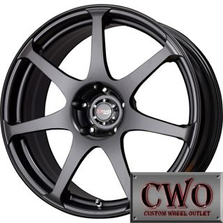 19 Black Drag Dr 48 Wheels Rims 5x114 3 5 Lug 350Z Mustang G35 Crown